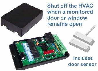 HVAC Shutoff - Door/Window Monitoring