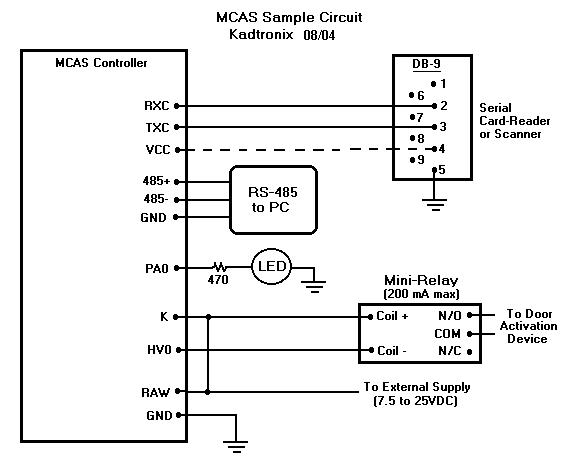mcas_hookup0 card reader wiring diagram card wiring diagrams instruction hid prox reader wiring diagram at gsmportal.co