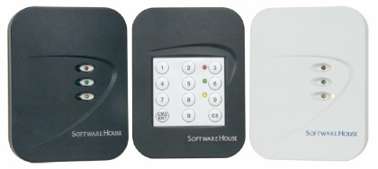 Proximity card-readers, integrated keypad (center)